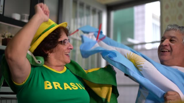 Rivalry between Brazilians and Argentines fans