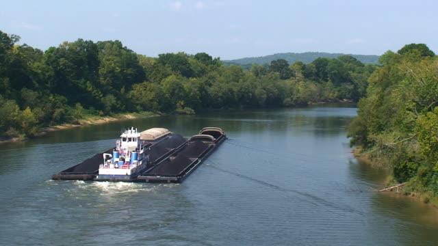river barges - barge stock videos & royalty-free footage