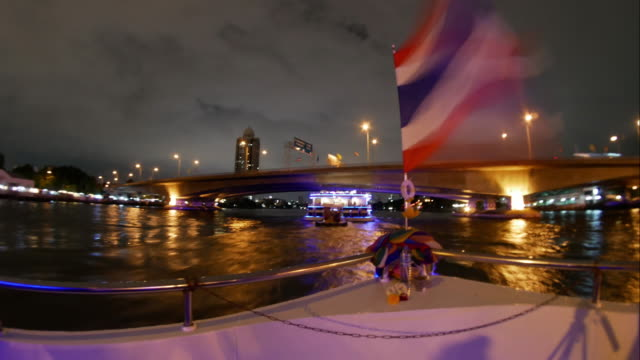 bootsfahrt fluss chao phraya river (thailand) - chao phraya delta stock-videos und b-roll-filmmaterial