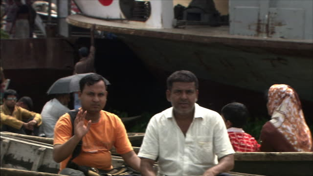 River Boatslip People aboard the small foyboat Pan Left