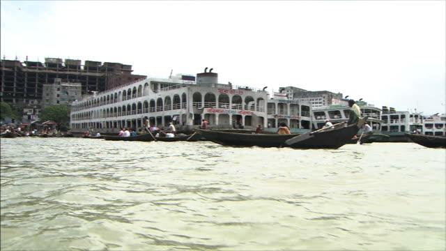 River Boatslip Small foyboats come and go