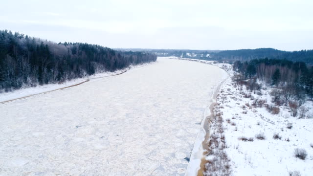 river daugava in winter - baltic countries stock videos and b-roll footage