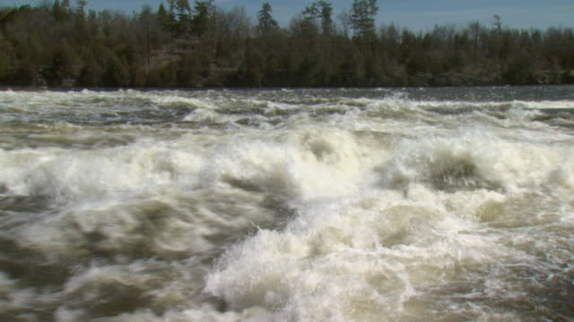 MS River flooding after snow melt in April, Tweed, Ontario, Canada