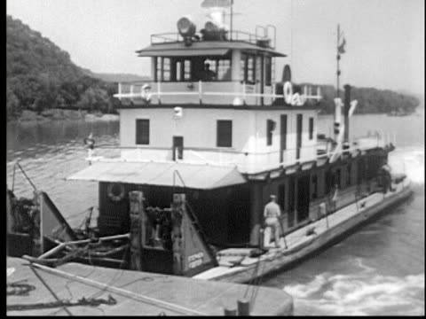 1956 river freight transportation - mill stock videos & royalty-free footage