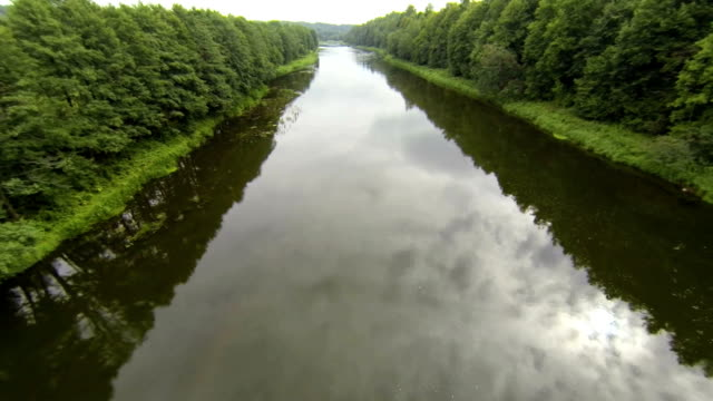 River from air, Aerial View