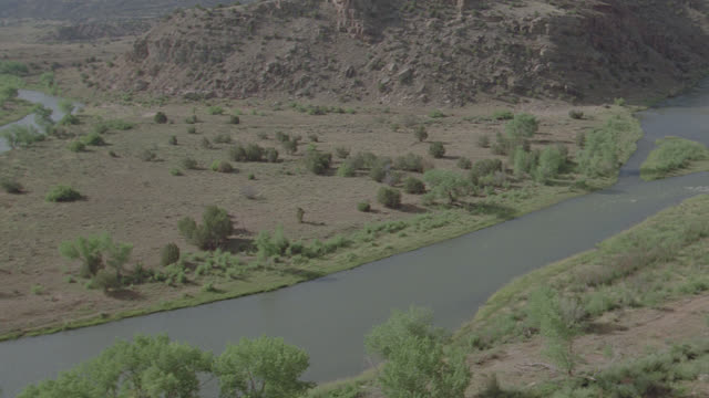 h-d river in desert (new mexico) - new mexico stock videos & royalty-free footage