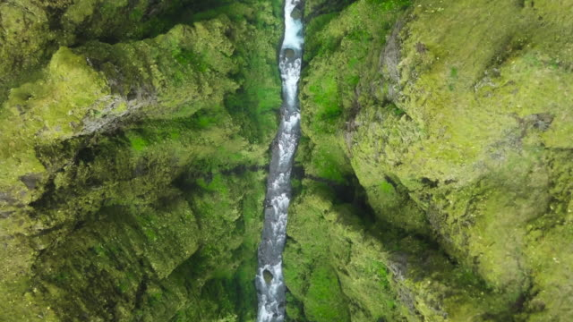 river in icelandic canyon - moss stock videos & royalty-free footage
