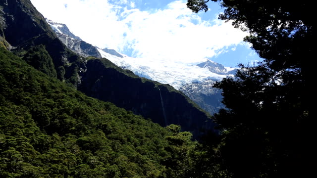 river in rob roy glacier track, wanaka, new zealand - icefall stock videos and b-roll footage