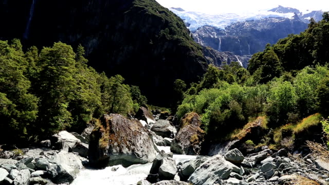 river in rob roy glacier track, wanaka, new zealand - rapid stock videos & royalty-free footage