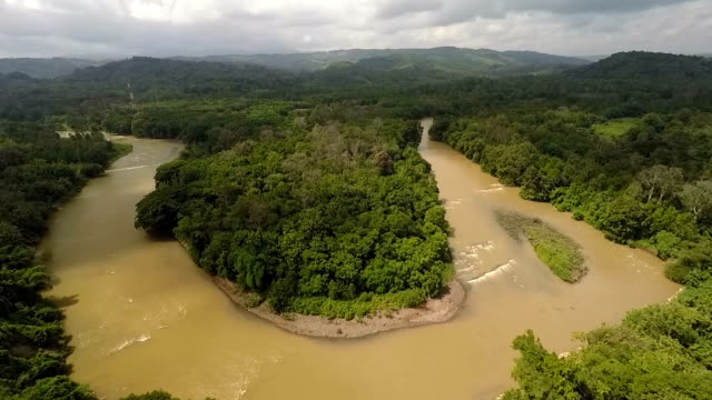 a river in sumatra - indonesia stock videos & royalty-free footage