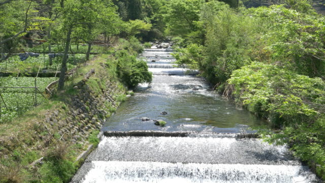 river in the countryside of japan - 10 seconds or greater stock videos & royalty-free footage