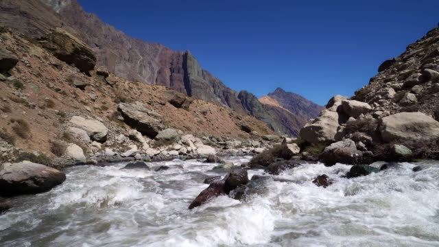 river in the mountains of cajon del maipo - valley stock videos & royalty-free footage