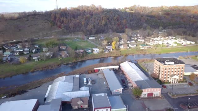 river in town of sevierville tennessee - tennessee stock videos & royalty-free footage