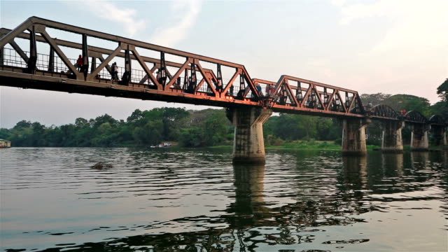 river kwai bridge in thailand - cast iron stock videos & royalty-free footage