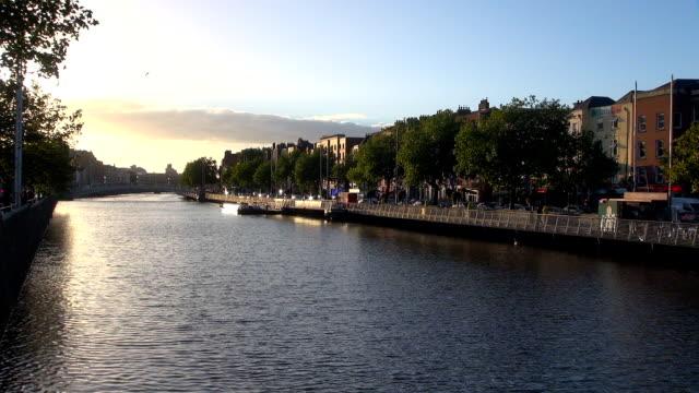 river liffey - dublin, republic of ireland - dublin republic of ireland stock videos & royalty-free footage