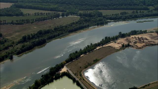 River Loire Near Blois  - Aerial View - Centre, Loir-et-Cher, Arrondissement de Blois, France