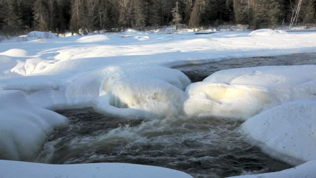 river melting at spring season - cold temperature stock videos & royalty-free footage