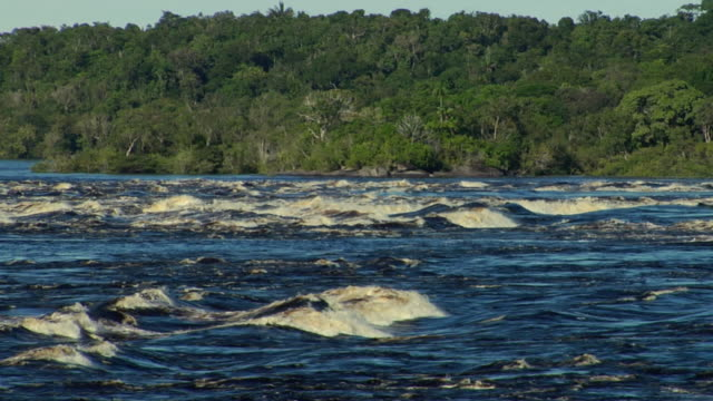 slo mo ws river negro rapids / sao gabriel da cachoeira, amazonas, brazil - cachoeira stock videos and b-roll footage