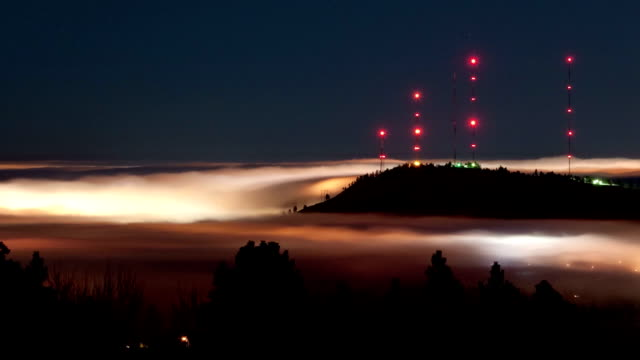 River of fog, timelapse