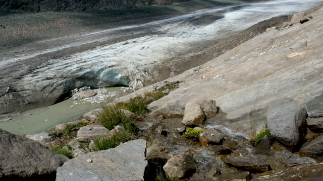 a river of meltwater flows from the retreating pasterze glacier on august 14 2019 near heiligenblut am grossglockner austria the pasterze austria's... - human tongue stock videos & royalty-free footage