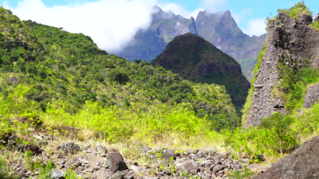 riviere des galets - reunion island - mafate cirque stock videos & royalty-free footage