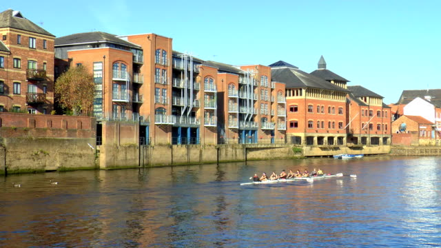 river ouse - york, england - river ouse stock videos & royalty-free footage