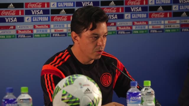 river plate coach marcelo gallardo says the argentinian side must play an almost perfect match if they are to stand a chance of beating barcelona in... - final chance stock videos & royalty-free footage