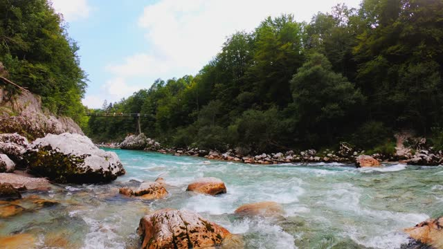 river running down the stream in slow motion - abseiling stock videos & royalty-free footage