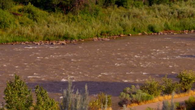 River running, view from hillside