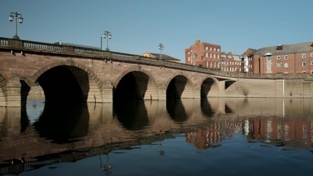 river severn bridge, worcester, uk. - river severn stock videos & royalty-free footage