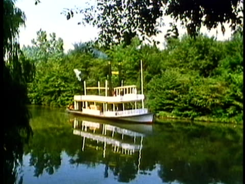 1962 reenactment montage river steamboat in 18th century mississippi   - river mississippi stock videos & royalty-free footage