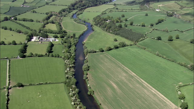 river suir and landscape - aerial view - munster,  south tipperary,  helicopter filming,  aerial video,  cineflex,  establishing shot,  ireland - installing stock videos & royalty-free footage