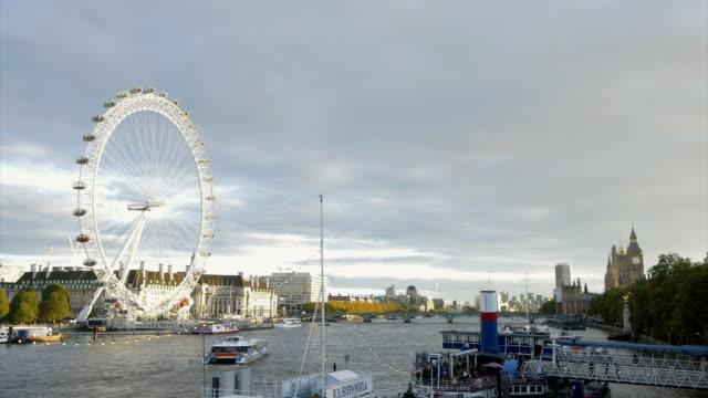 river thames london eye le_12 - 観覧車点の映像素材/bロール