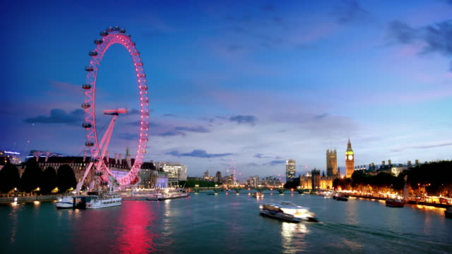 river thames london - big wheel stock videos & royalty-free footage
