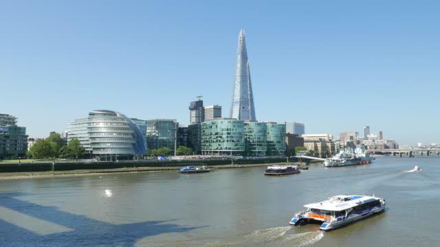 River Thames, Shard and City Hall