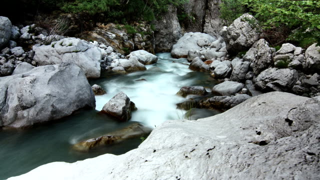 river time lapse - albania stock videos & royalty-free footage