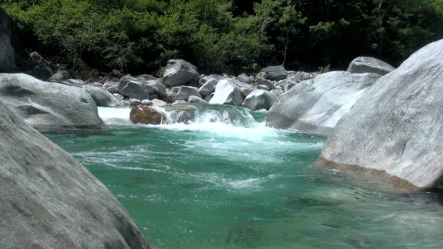 river verzasca - ticino canton stock videos and b-roll footage