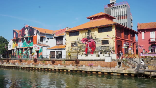 river view to exploring melaka's vibrant heritage - malaysia stock videos & royalty-free footage