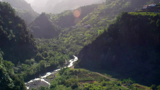 River winding in the valley. Mountain landscape