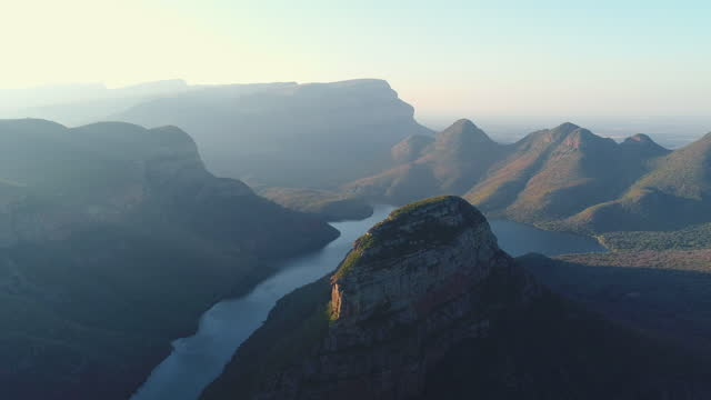 river winding through the blyde river canyon - south africa stock videos & royalty-free footage