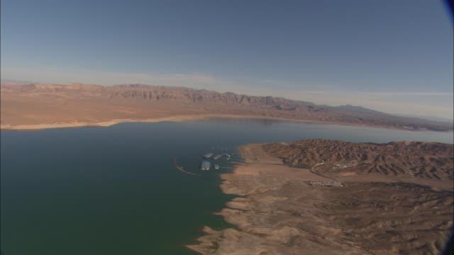 A river winds through barren terrain.