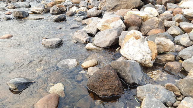 river with stones with transparent water - granite rock stock videos & royalty-free footage
