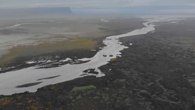 riverbed and delta in iceland - estuary stock videos & royalty-free footage