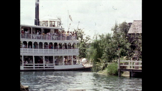 riverboat attraction at disney world in 1980 - mark twain stock videos & royalty-free footage