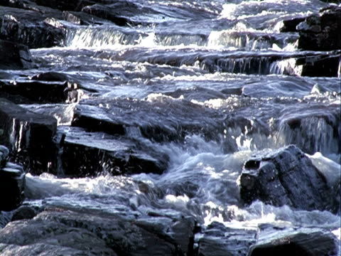 riverfall background + sound. progressive frames - natural land state stock videos & royalty-free footage