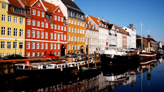 riverfront cityscape - denmark stock videos & royalty-free footage