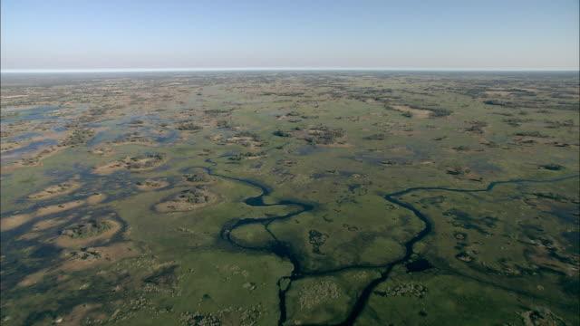 vidéos et rushes de rivers and waterways cut through the okavango delta in botswana, africa. available in hd. - botswana