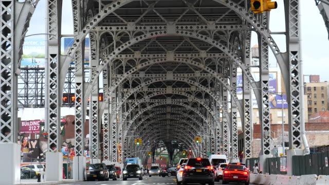 riverside aqueduct traffic scene - vanishing point stock videos and b-roll footage