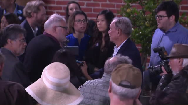 riverside, ca, u.s. - michael bloomberg speaks to people at riverside campaign office on sunday, january 5, 2020. democratic presidential candidate,... - candidate stock videos & royalty-free footage