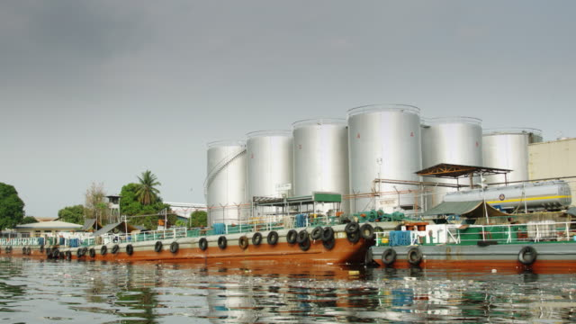 riverside industrial complex in manila - passenger craft stock videos & royalty-free footage